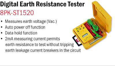 Digital Earth Resistance Tester – 8PK-ST1520