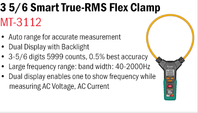 Smart True-RMS Flex Clamp Meter – MT-3112