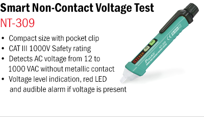 Smart Non-Contact Voltage Tester – NT-309
